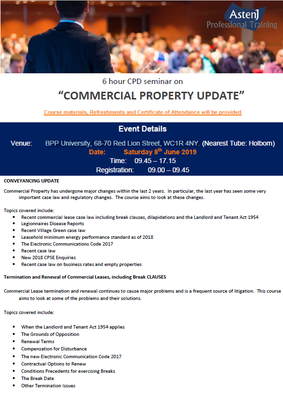 Commercial Property Update