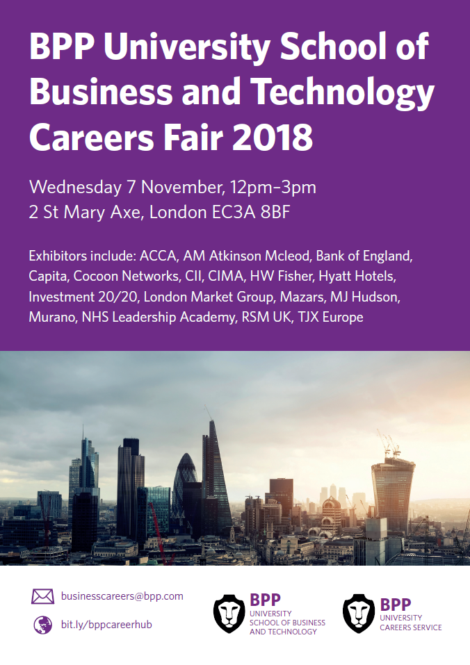 BPP University School of Business and Technology Careers Fair 2018